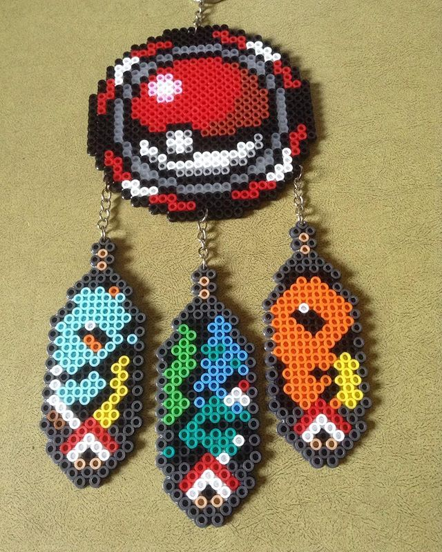 Gotta catch 'em all :3 Pokemon dream catcher now available under the dream catcher listing!! Etsy: PatLife  #PatLife #perler #perlerbeads #orange #yellow #red #catcher #dream #dreamcatcher #etsy #etsyshop #etsyseller #art #craft #handmade #fun #surprise #libertycitycon #timessquare #charmander #pokemon #bulbasaur #squirtle #pokemongo