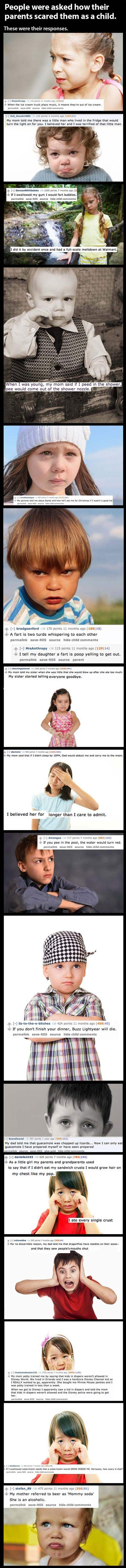 These are hilarious!! I want to top them! ...Shameful lies some parents tell their kids…