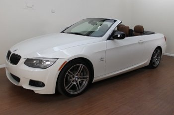 BMW 335is Convertible w/ Amazing Dual Clutch Transmission (DCT) Alpine White over Black Dakota Leather.  Can you say AMAZING?!