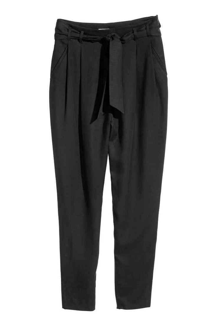 Pantalon Coupe décontractée - Noir - FEMME | H&M CA