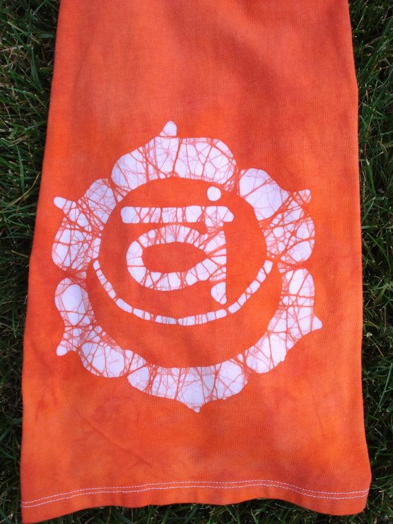 Batik Chakra Yoga Pants Orange Sacral Chakra by AppleJaxie on Etsy, $54.00