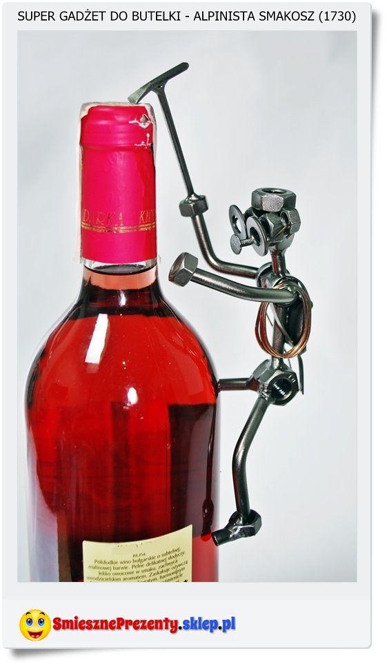 Dodatek do butelki czyli śmieszny załącznik do prezentu. Alpinista smakosz