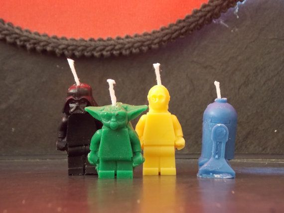 Starwars Birthday candle set by legobrick on Etsy