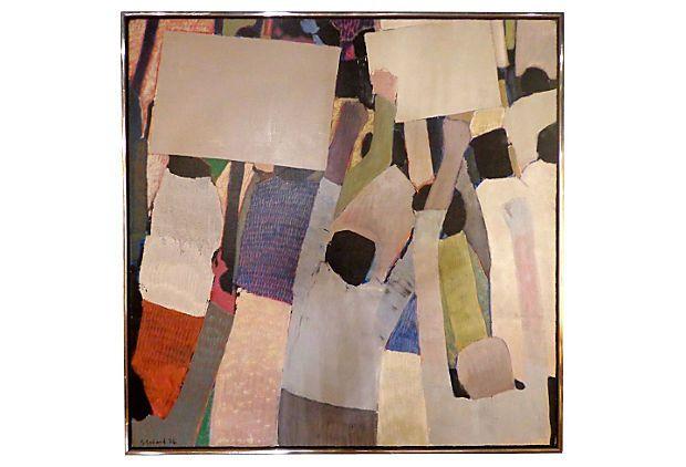 Manifestation by Gabriel Godard, 1974 on OneKingsLane.com