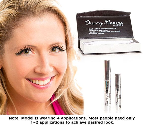 Cherry Blooms Mascara Eyelash Extensions With Model