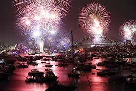 Boats on Sydney Harbour, New Years Eve