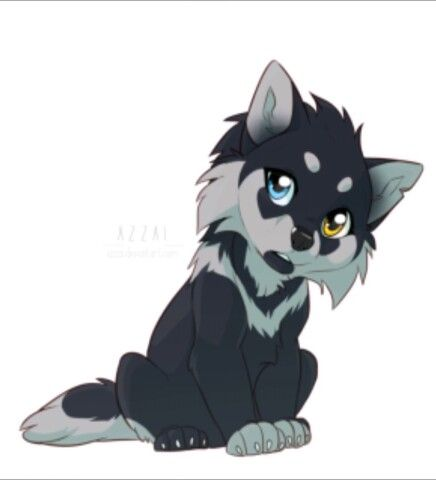 wolf anime cute furry drawings drawing azzai wolves kawaii chibi animal base sketch animals character visit uploaded user