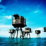 Abandoned battle forts.  Some say these gave designers inspiration for the tall machines in Star Wars.