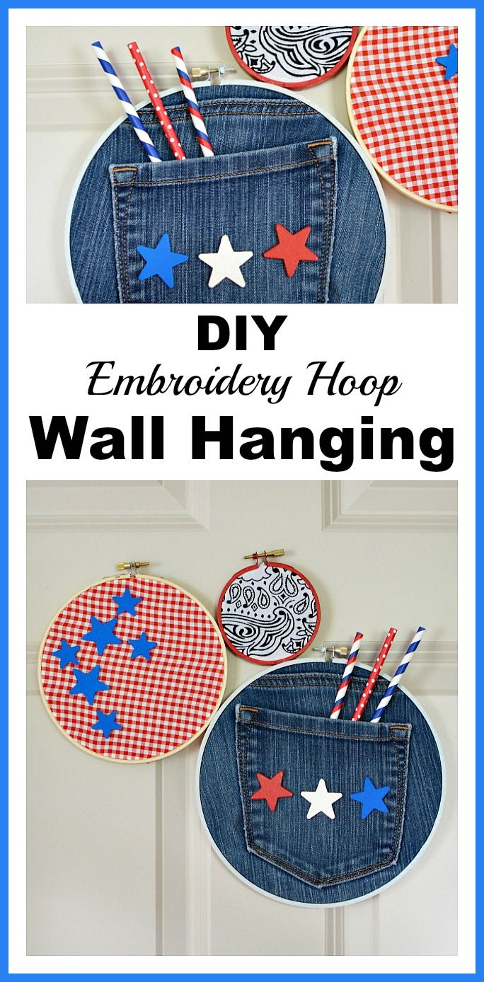 34 easy and cheap diy art projects to dress up your garden 600x350 - Diy Embroidery Hoop Wall Hanging Easy Wall Art Craft