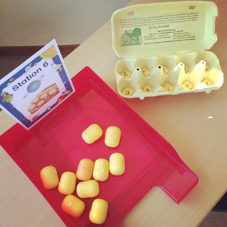 """Gefällt 79 Mal, 8 Kommentare - Katrin Gans (@primarperle) auf Instagram: """"In den Ü-Eiern sind kleine Bildchen. Befindet sich der Pilot am Anfang des Wortes, müssen die…"""""""