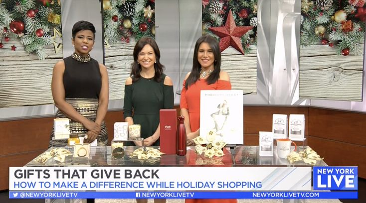 Today on NBC I share with you guys gifts that give back to charity this holiday season.  #wellness #beauty #charity #gifts #holidayshopping