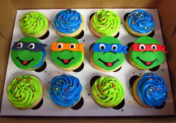 Ninja Turtle Cupcakes, Ninja Turtle cake pan ~ Cakeandlyric.com