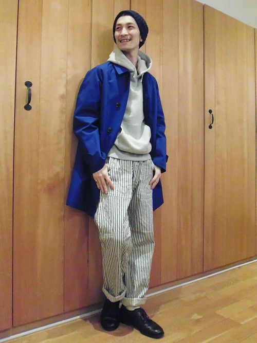 Bshop 梅田店|大林京太郎さんのステンカラーコート「15春夏新入荷【ORCIVAL(オーシバル)】ステンカラーコート(ORCIVAL|オーシバル)」を使ったコーディネート
