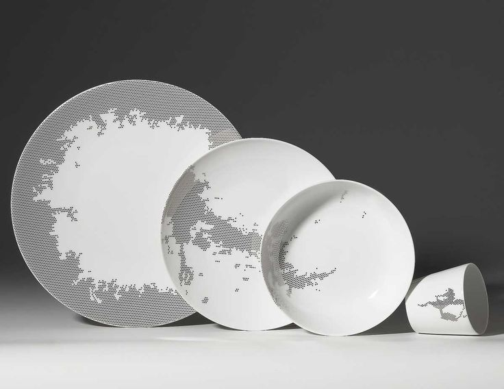 Luxury Porcelain Tableware with Modern Design by Non Sans Raison - DigsDigs & 13 best dinner sets images on Pinterest | China painting China ...