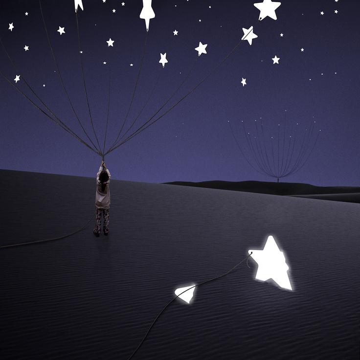 L'ÉTOILE SOUFFRANTE (2100×2100): Stars Lights, Starry Sky, Al Magnus, Alastair Magnaldo, Starry Night, Catch Stars, Digital Art, Surrealism Photography, Photos Surrealism