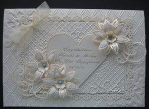Personalised papercut heart wedding card wedding cards mr