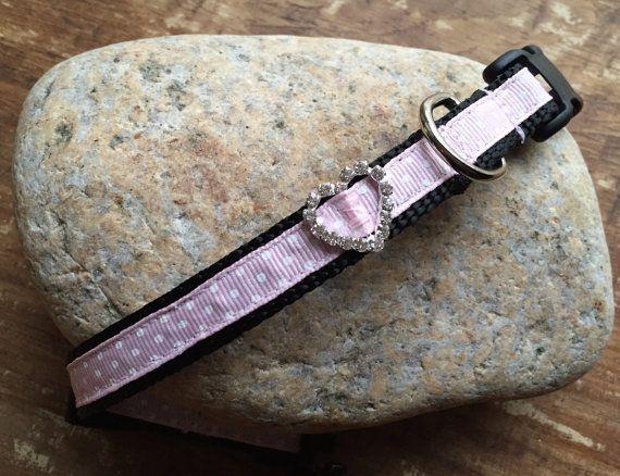 Collar para perros XS lindo color rosa collar de por SublimeBirdy