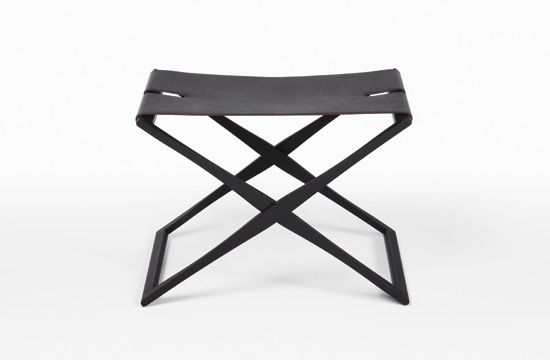 HOLLY HUNT | rover folding stool. Available at the DD Building suite 503 #ddbny #hollyhunt
