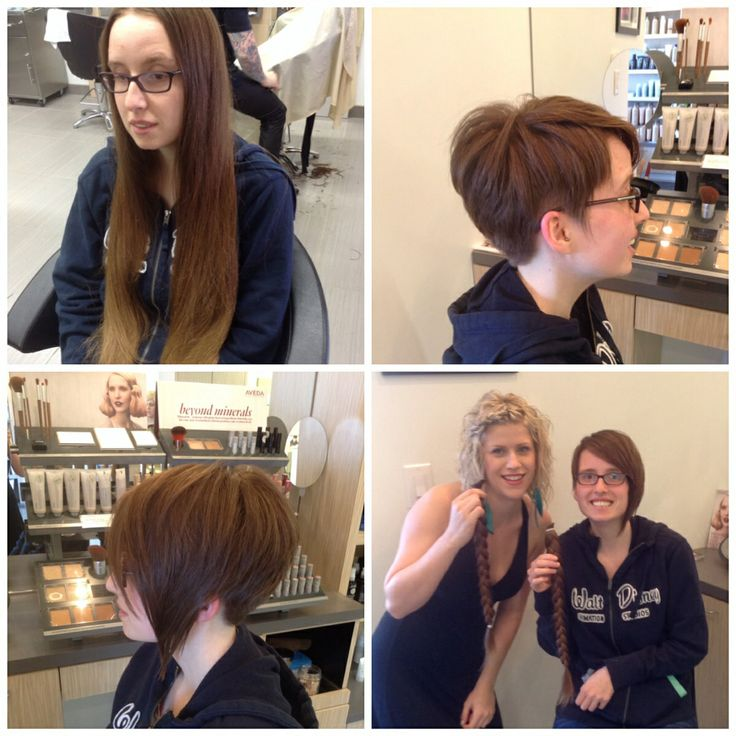 #before and after done by senior stylist Lori at @Salon Blunt  #haircut #shorthair