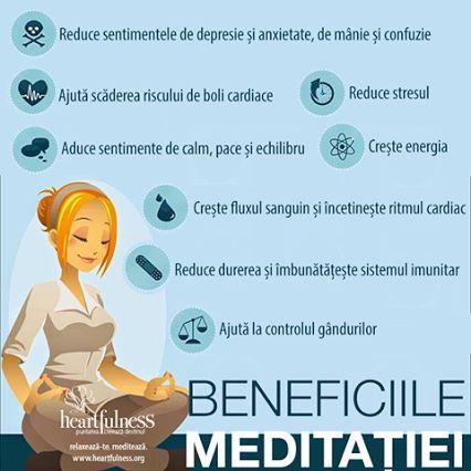 Beneficiile Meditației: ❤︎ Reduce durerea și îmbunătățește sistemul imunitar ❤︎ Reduce sentimentele de depresie și anxietate, de mânie și confuzie ❤︎ Crește fluxul sanguin și încetinește ritmul cardiac ❤︎ Aduce sentimente de calm, pace și echilibru ❤︎ Ajută scăderea riscului de boli cardiace ❤︎ Ajută la controlul gândurilor ❤︎ Crește energia ❤︎ Reduce stresul #heartfulness   #knowbyheart   #hfnro