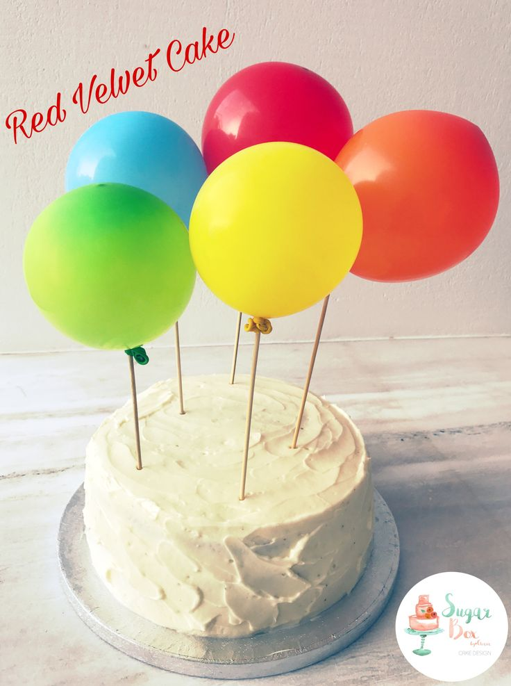 Balloons Red Velvet Birthday Cake