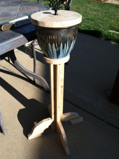 Easy to do out door ashtray or
