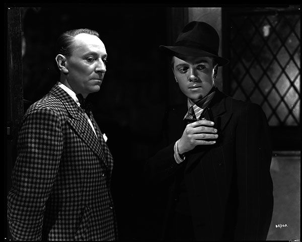 "William Hartnell and Richard Attenborough in John Boulting's 1947 film,""Brighton Rock."""