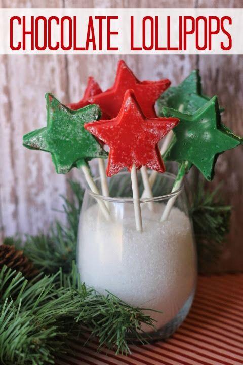 Chocolate Lollipops, Christmas Treats, Christmas Candy, Homemade Lollipops