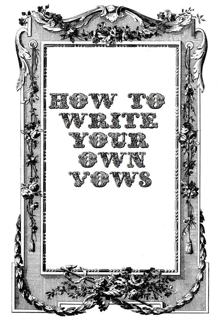 How To Write Your Own Wedding Vows Writing A Formula On Step By Tips