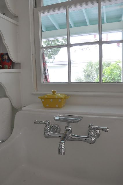 Jane Coslick Cottages - Oh my - how I wish I would have kept our old apron sink.  It even had the same faucet fixture but it was worn out.