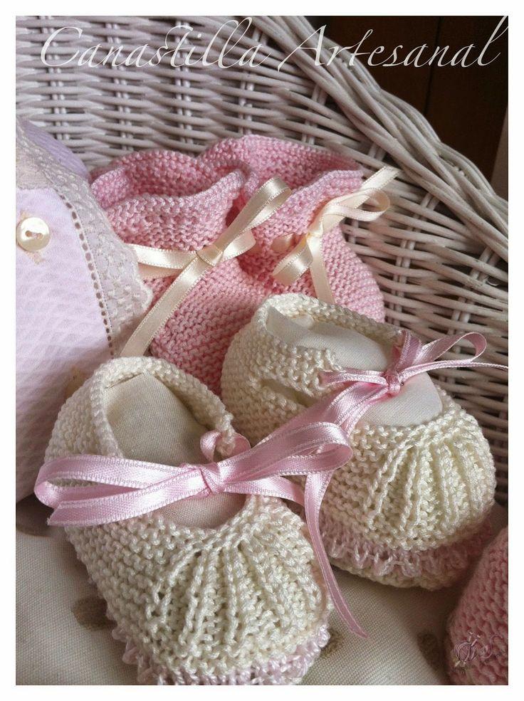 Zapatitos tejidos tricot