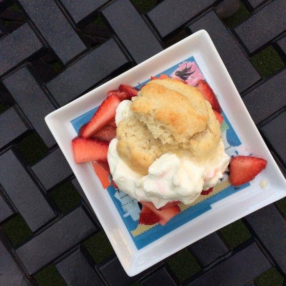 Gluten-free biscuits recipe for Strawberry Shortcake