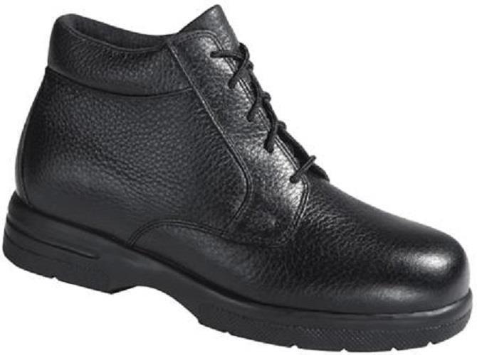 $192 Drew Shoes TUCSON Mens Ankle Boots 12 M Black Orthotic Diabetic Comfort