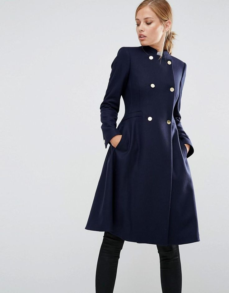 Ted Baker   Ted Baker Indego Fit and Flare Coat at ASOS
