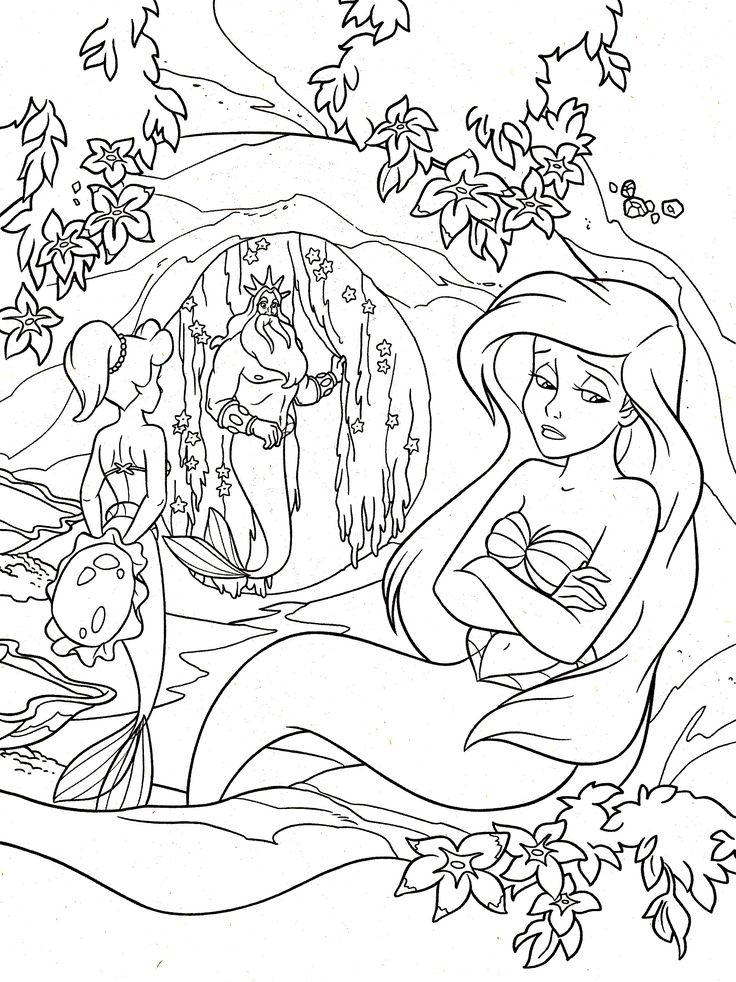 Galerie de coloriages gratuits coloriage-ariel-la-petite-sirene.