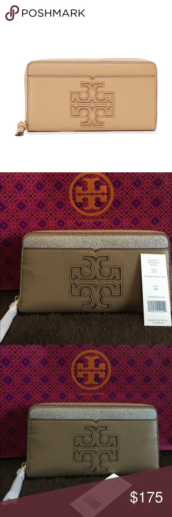 AUTHENTIC! NWT Tory Burch Continental Wallet Brand new with tag.  Vintage Camel.  No dust bag.  $195 Tory Burch Bags Wallets