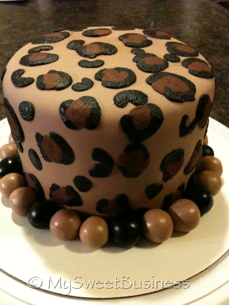 Fun Cheetah Print Cake by My Sweet Business.  Berea, Ky www.facebook.com/MySweetBusiness