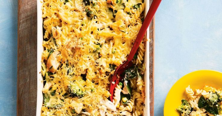 This chicken and vegetable pasta bake is so creamy, you won't believe it's low fat.