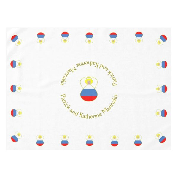 Russian Flag Angel Blonde Hair Tablecloth Zazzle Com Russian Flag Blonde Hair Russia Flag