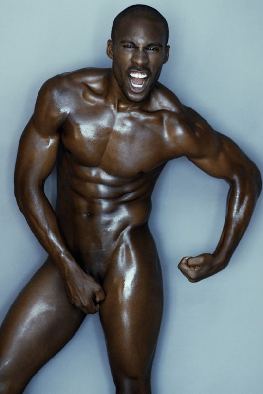 Black men nude oiled