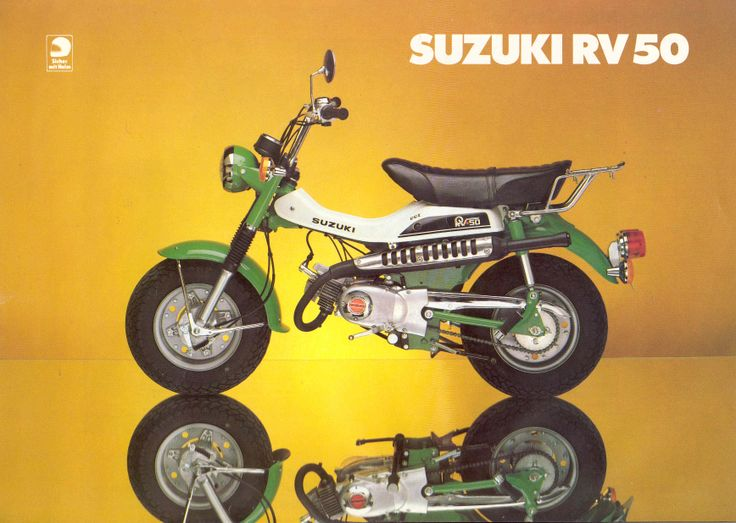 suzuki rv 50 1978 mini bikes pinterest. Black Bedroom Furniture Sets. Home Design Ideas