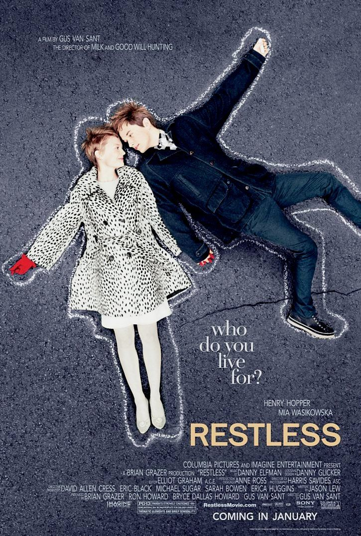 """""""Restless"""" Definitely not a """"fantastic"""" movie, but I was charmed by the characters and their romance. I don't mind the bad reviews, I liked it! I'd watch it again! ^-^"""