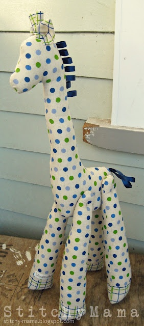 The spotty giraffe. Pattern on www.stitchy-mama.blogspot.com