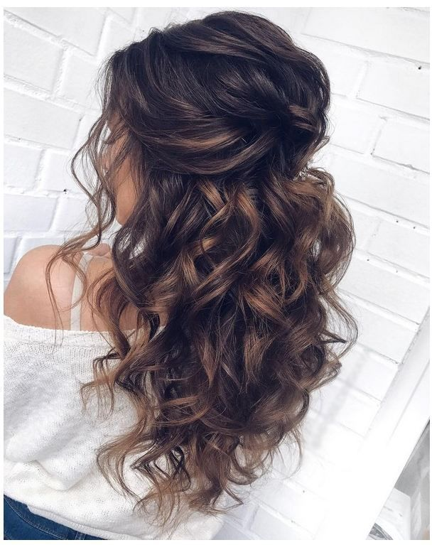 Lange Hochzeitsfrisuren 2019 Frisuren Kurzhaar Long Hair Styles Wedding Hair Half Hair Styles