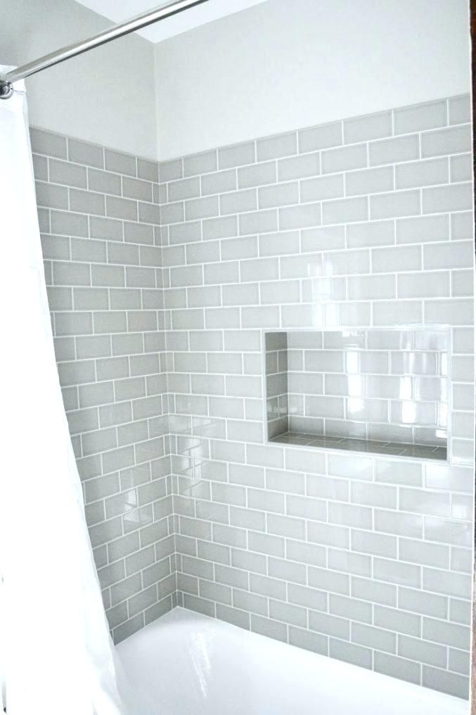 Grey Subway Tile Shower Tiles Bathroom Medium Size Of Intended For
