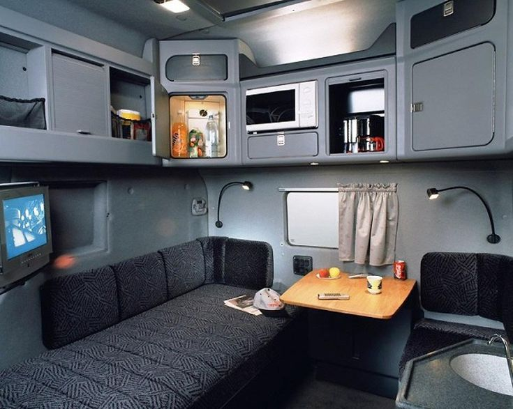 Big Rig Cab Interior With Sleeper Semi Tractor Truck ...