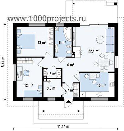 Проекты с двумя спальнями | 3 фотографии