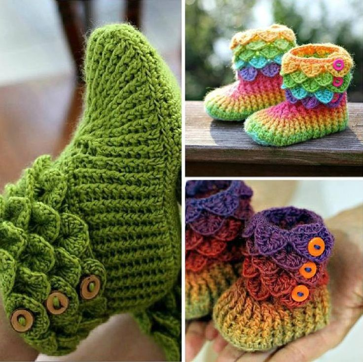 How to crochet beautiful DIY crocodile stitch booties step by step tutorial instructions