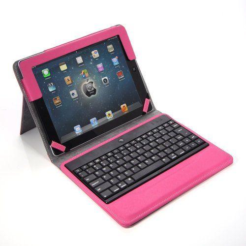 RUBAN (TM) Premium New Wireless Bluetooth Keyboard Folio PU Leather Case Cover Magnetic Smart Stand for iPad 2 New Apple iPad 3 3rd Gen & Ipad 4 Gen (For iPad 4/3/2, Hot Pink - iPad 4/3/2) RUBAN http://www.amazon.com/dp/B00FW2AVF0/ref=cm_sw_r_pi_dp_JzvWtb15XSCNHXWW $21.90