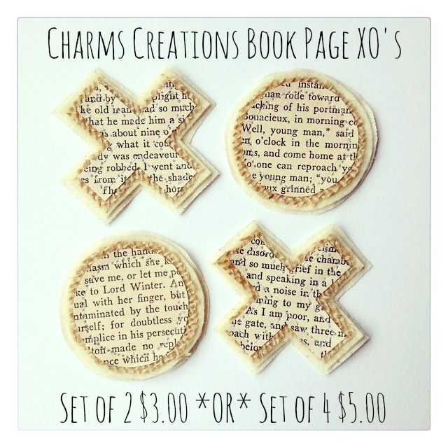 Book Page XO's / Charms Creations